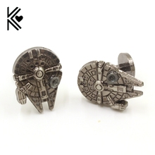 New Design Star Wars Vintage Gothic Fighter Warship Cufflinks For Mens High Quality Retro Shirt Brand Cuff Buttons Cuff Links(China)