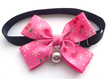 Boutique Dog cat bow tie cute pet collars with bell supplies adjustable Teddy dog party neckties colorful best  xmas gift