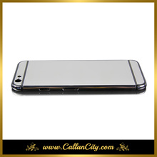 "For iPhone 6 4.7"" platinum sliver mirror limited plated housing cover chassis middle frame replacement free shipping"