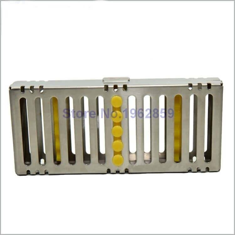 Dental Disinfection Sterilization Brackets Cassette Case Rack Tray Box for 5pcs Surgical Instruments Dental Tools Box<br>