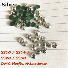 Top quality Hotfix Rhinestones Mine Silver size SS10 SS16 SS20 SS30 1440Pcs/lot Crystal stones for rhinestone motif use dress