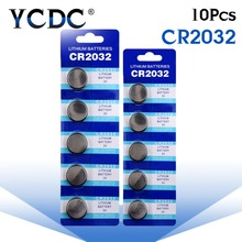 YCDC 10PCS Batterie CR2032 batteries 2032 3V Lithium Type Button Coin Cell Watch Battery 5004LC ECR2032 DL2032 KCR2032