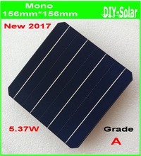 A Grade 156mm Mono Monocrystalline solar cell 21.6% high efficiency 5.37W/pc monocrystalline solar panel cells 6x6 100pcs