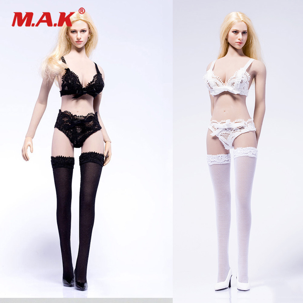1//6 Shirt and Lace Garter Stockings Briefs for 12/'/' Hot Toys Phicen Figures