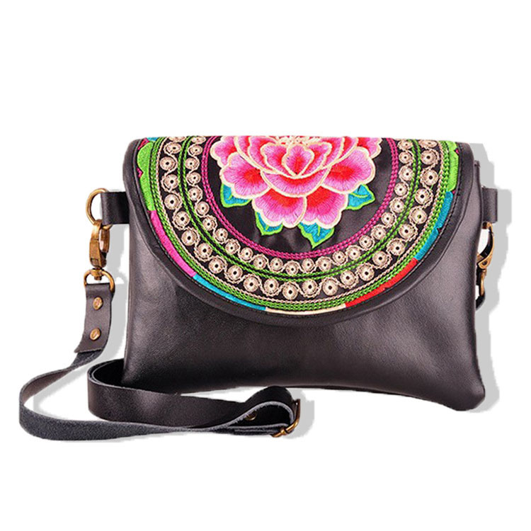 NEW PU Leather Crossbody Bag Women Fashion Ethnic Style Small Single Shoulder Bag Ladies Gorgeous Chinese Style Leisure Flap Bag<br>