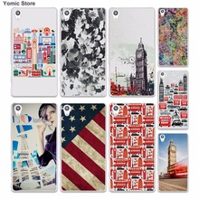 London Culture Big Ben London bus (1) skin hard White phone case cover for Sony Xperia z5 z4 z3 z2 z1 M5 M4 Aqua XA(China)