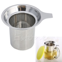 New 1Pc Chic Stainless Steel Mesh Tea Infuser Metal Cup Strainer Tea Leaf Filter Sieve(China)
