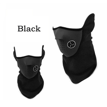 Black Paintball Ski Bike Bicycle Cycling Half Face Protect Mask Cover Neck Veil Guard