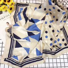 70*70cm Fashion Women's Scarves High Quality Silk Scarf Luxury Brand Designer Bandana Accessories Print Dot Spring Scarf Shawl