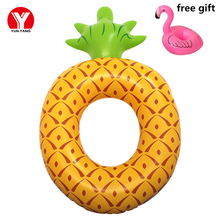 Inflatable Flamingo Ring Pineapple Inflatable Swim Ring Adult Float Toys Inflatables Ring for Pool Flamingo Floating Water Pool(China)