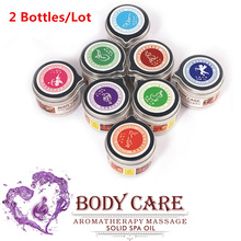 Buy 2Pcs Erotic massage oil aromatherapy Essential oils solid balm Fun flirt aphrodisiac human interest articles SPA massage candles