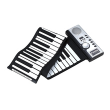 Portable 61 Thickening Keys Flexible Electronic Roll Up Piano MIDI Soft Keyboard Piano High Quality Silicone rubber keyboard