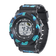 2016 New Fashion Men Waterproof Watch LED Digital Stopwatch Alarm Date Rubber Sport Quartz Wristwatch Watces relogio masculino