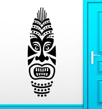 Wall Sticker Vinyl Decal Surf Boards Tiki Mask Design Surfing Extreme(China)