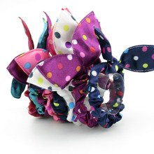 6 Piece Cheapest Hair Band Polka Dot Leopar Bow Rabbit Ears Headwear Hair Tie Baby Hair Accessories Hair Rope for Women