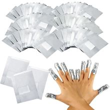 100Pcs/Lot Aluminium Foil Nail Art Soak Off Acrylic Gel Polish Nail Removal Wraps Remover Makeup Tool(China)