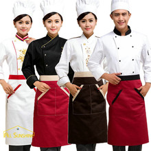 BBQ Cooking Cleaning Funny Apron Bib Uniform With Pockets Hairdresser Kit Salon Hair Chef Waiter Long Kitchen Cuisine Tablier(China)