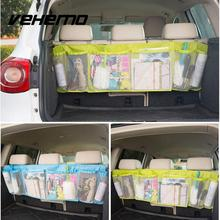 Durable Car Organizer Back Rear Trunk Seat Elastic String Holder Nets Mesh Pocket Cage Carrying Storage Bag Auto Accessorriess