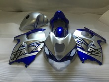Injection Mold Fairing kit for SUZUKI Hayabusa GSXR1300 96 99 00 07 GSXR 1300 1996 2007 Silver blue Fairings set+7 gifts VX27
