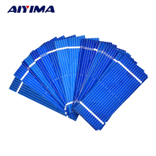 100pcs Mini Solar Panel 52 * 22mm Polycrystalline Silicon Solar panels 0.19w 0.5v/DIY Cell Phone Charging Battery