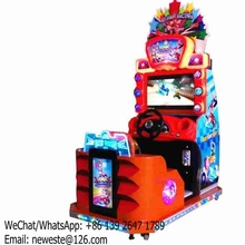 Children Kids Coin Operated Simulator Driving Car Racing Arcade Game Machine