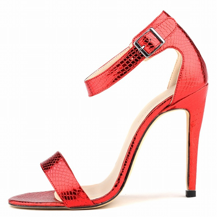 2015 Fashion High Heel Summer Women Sandal Ankle Strap Buckle Strap Cover Heel Solid Casual Soft LeatherThin Solid Sandal<br><br>Aliexpress