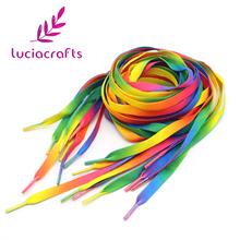 1pair/lot(2pcs) 120cm 47inch rainbow multi-colors flat sports shoe laces shoelaces strings strap for sneakers 013006035(China)