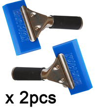 2pc blue water wiper BLUEMAX Squeegee Beef Tendon Car Auto Film For Window Cleaning rubber cleaner wiper car homt tint 2A34