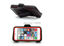 Wholesale 500pcs For iPhone 6 6s 4.7 5.5 inch TPU PC Rugged Hybrid Rubber Dustproof Waterproof Shockproof Flip Cover Case