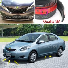 Bumper Lip Deflector Lips For TOYOTA Belta Yaris Vios Limo Front Spoiler Skirt For Auto to Car Tuning View / Body Kit Strip