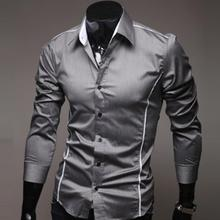 2016 Fashion New Long Sleeve Shirts Men Korean Slim Design Cotton Casual Male Shirts Summer-Autumn Shirts For men