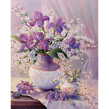 5d diy diamond painting Cross stitch kit Diamond embroidery 3d diamond mosaic pattern flower picture home decor gift