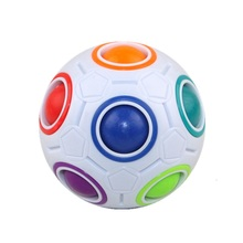 Funny Magic Cube 2017 Creative Spherical Magic Cube Action figure toys Educational Learning Rainbow Ball Football Puzzles Toys
