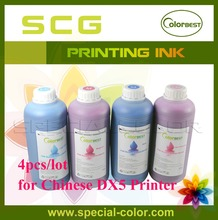 4pcs/lot Chinese DX5 Printer Eco Solvent Ink 1000ml for Epson DX4/DX5 Printhead