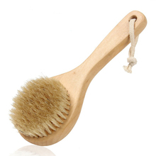 CE/FDA New Natural Bristle Long Handle Wooden Bath Shower Body Back Spa Brush