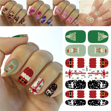 K5683 2016 Water Transfer Foil Nails Art Sticker Fashion Merry Christmas Snow Manicure Decor Decals Wraps Foil Stickers for Nail(China)