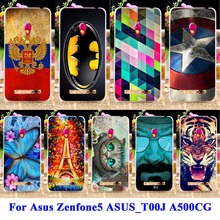 AKABEILA Soft TPU & Hard PC Cell Phone For Asus Zenfone5 Cases zenfone 5 ASUS_T00J A501CG A500CG Covers Captain American Shell