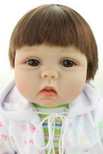 New born baby doll  lifelike reborn baby doll rooted human hair fashion doll Childen's Day  gift lovely gifts