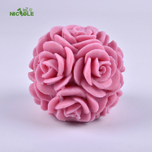 Rose Ball Silicone Candle Mold Handmade Soap Making Tools DIY Chocolate Candy Sugar Craft Decorating Mould