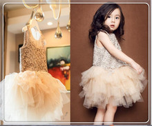 Baby Girls Luxury Crochet Lace Party Dresses Summer Tulle TuTu Princess Irregular Dress Children's Clothing for 7-15Y