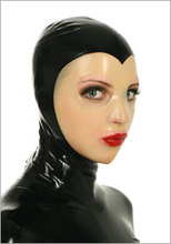 Buy 0.6MM Thickness Heavy Latex Mask Sexy Latex Hood Back Zipped Transparent Face Mask