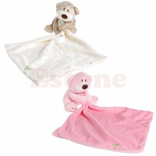 Teddy Bear Baby Kids Comforter Plush Stuffed Washable Blanket Soft Smooth Toy(China)