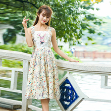 New Spring Women dress Print Sleeveless Chiffon Slim Don't Say Worry/beautiful Long Vest Dresses Design And Color 8832