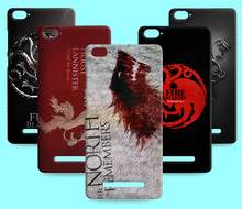 Ice and Fire Cover Relief Shell For Xiaomi Mi 4 Mi4 Cool Game of Thrones Phone Cases For Xiaomi Mi4c Mi 4c 4S Mi4i Mi4s