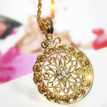 Top Sell! Best Buy Flower Fashion Magnifier Reading Glass for Girl Fairy Trendy Gift Women Pendant Necklace Magnifier