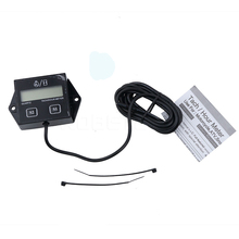 Digital Tachometer Engine Tach Hour Meter Gauge Inductive battery changeable For Boat Motocross Stroke Engine LCD Display(China)