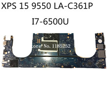 For dell XPS 15 9550 laptop motherboard i7-6700HQ CPU 960m Video card CN-0Y9N5X 0Y9N5X Y9N5X LA-C361P mainboard Good working