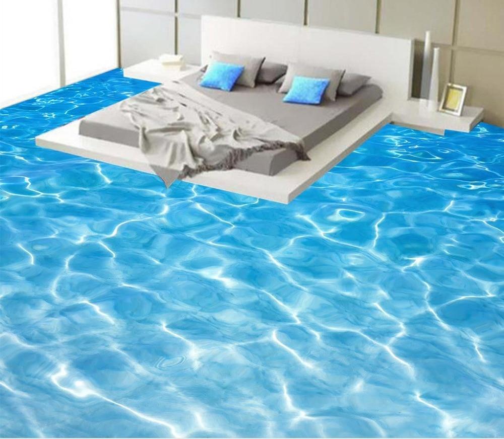 Photo floor wallpaper 3d stereoscopic Sea water ripples 3D floor Videos  self-adhesive 3D floor wallpapers <br>