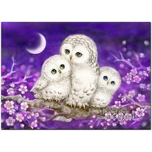 DIY Diamond Painting Cross Stitch Needlework square Diamond Mosaic Diamond Embroidery tree owl Pattern Hobbies & Crafts VS247