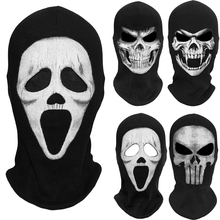 Scream Death Grim Reaper Balaclava Ghost Skull Skeleton Tactical Army Party Costume Bicycle Halloween Full Face Masks(China)